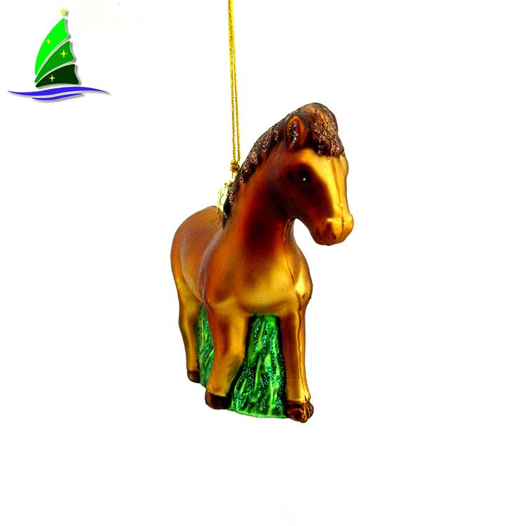 Glass Horse Ornaments