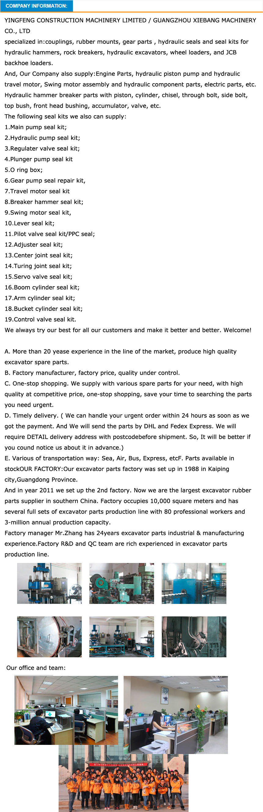 Final Drive RV Gear Used for Komatsu PC200-6 Excavator Parts