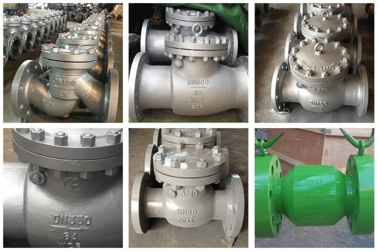 Pn10 Ss CF8m Swing Check Valve with Flange