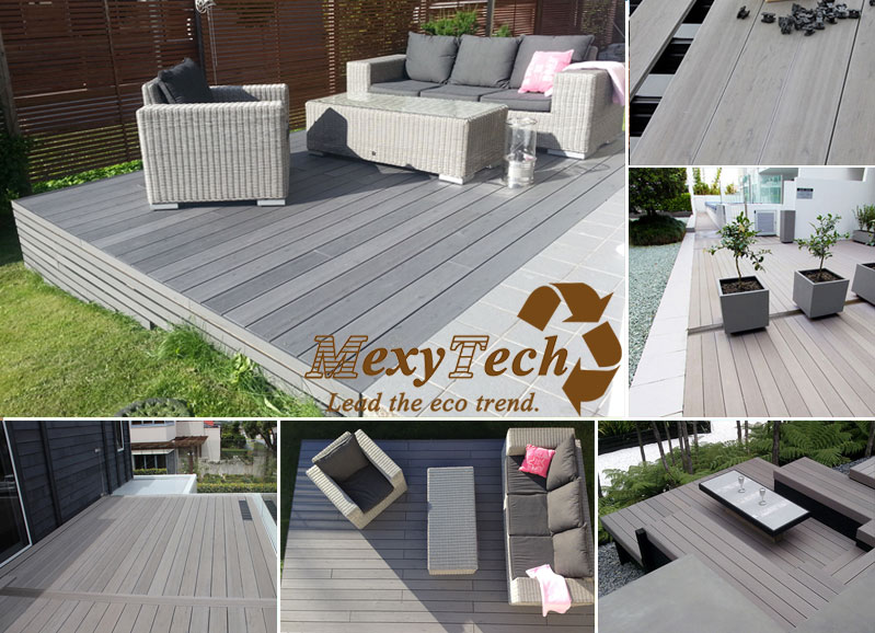 Color Grain Decking, New Composite Decking, Guangzhou Supplier