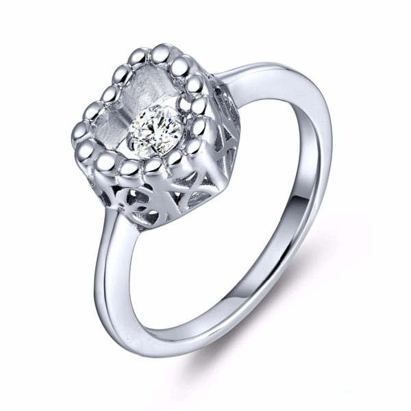Fashion Dancing Diamond Jewelry 925 Silver Rings Wholesales