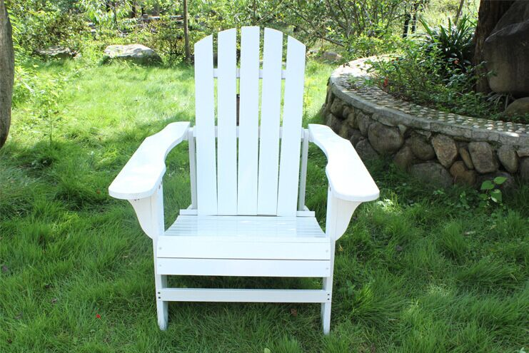 New Wood Beach Chair Foldable Adirondack Outdoor Garden Lawn Backyard Hotel Furniture