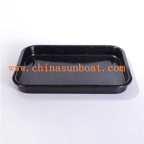 Sunboat Bakeware Enamel Pot Fry Pan Square Plate Baked Bread Tray