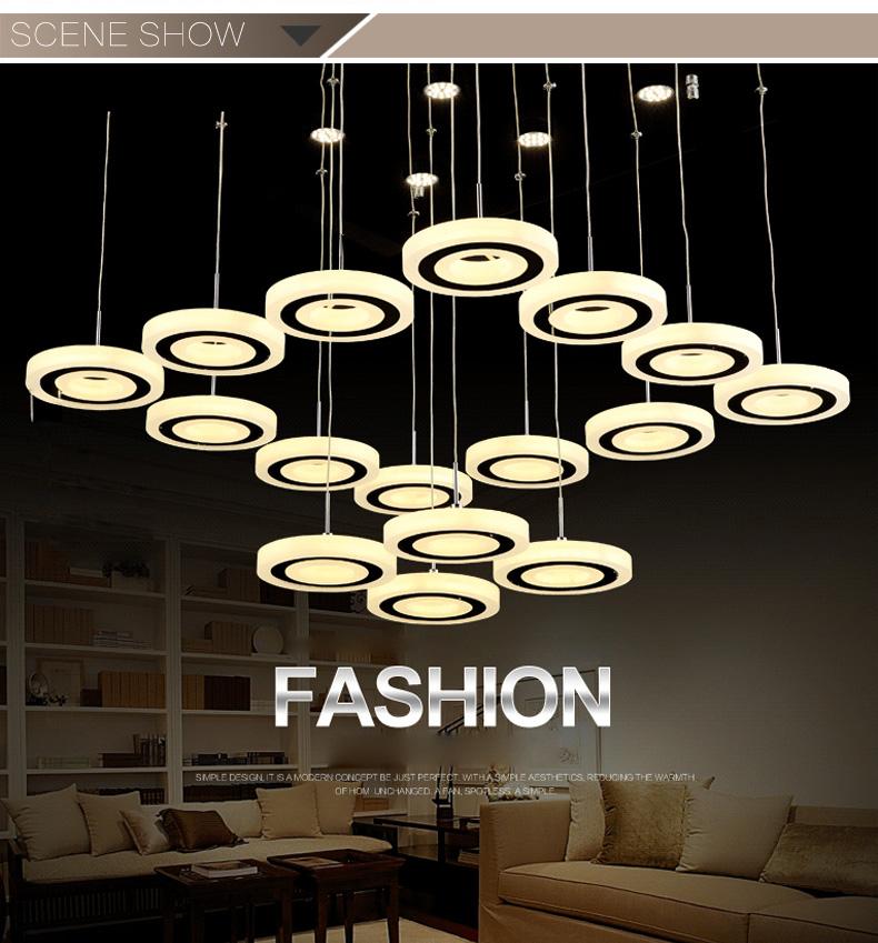 Top Class Pendant Lighting Round Crystal Chandelier Lamp