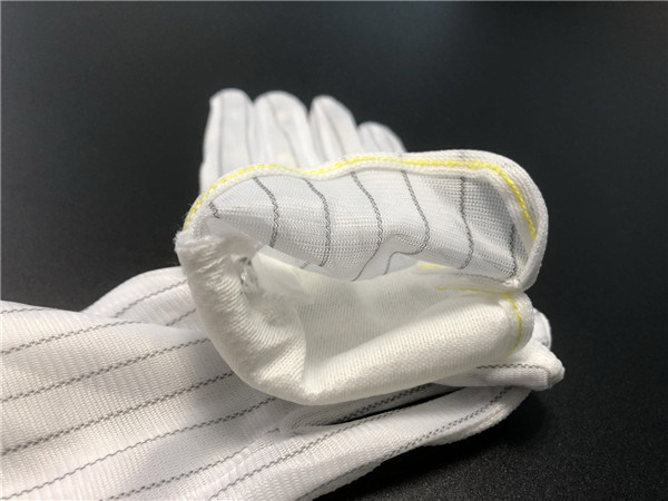 ESD Antistatic Cleanroom Strip PVC Dotted Gloves