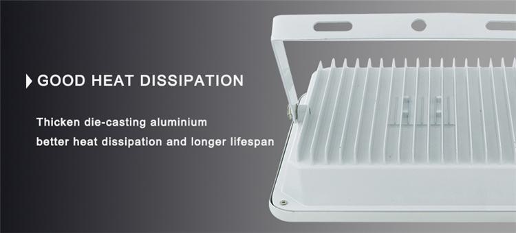 Superior Sanan Chip Ce, RoHS Aluminium Housing Square Shape COB Floodlighting Fixture