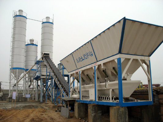 Hzs 90 Stationary Concrete Batching Plant (90m3/h)