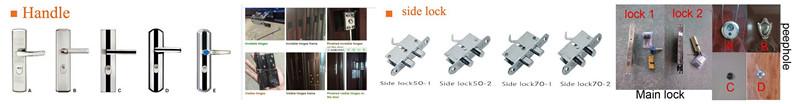 Indian Main Metal Door Security Steel Exterior Door Design