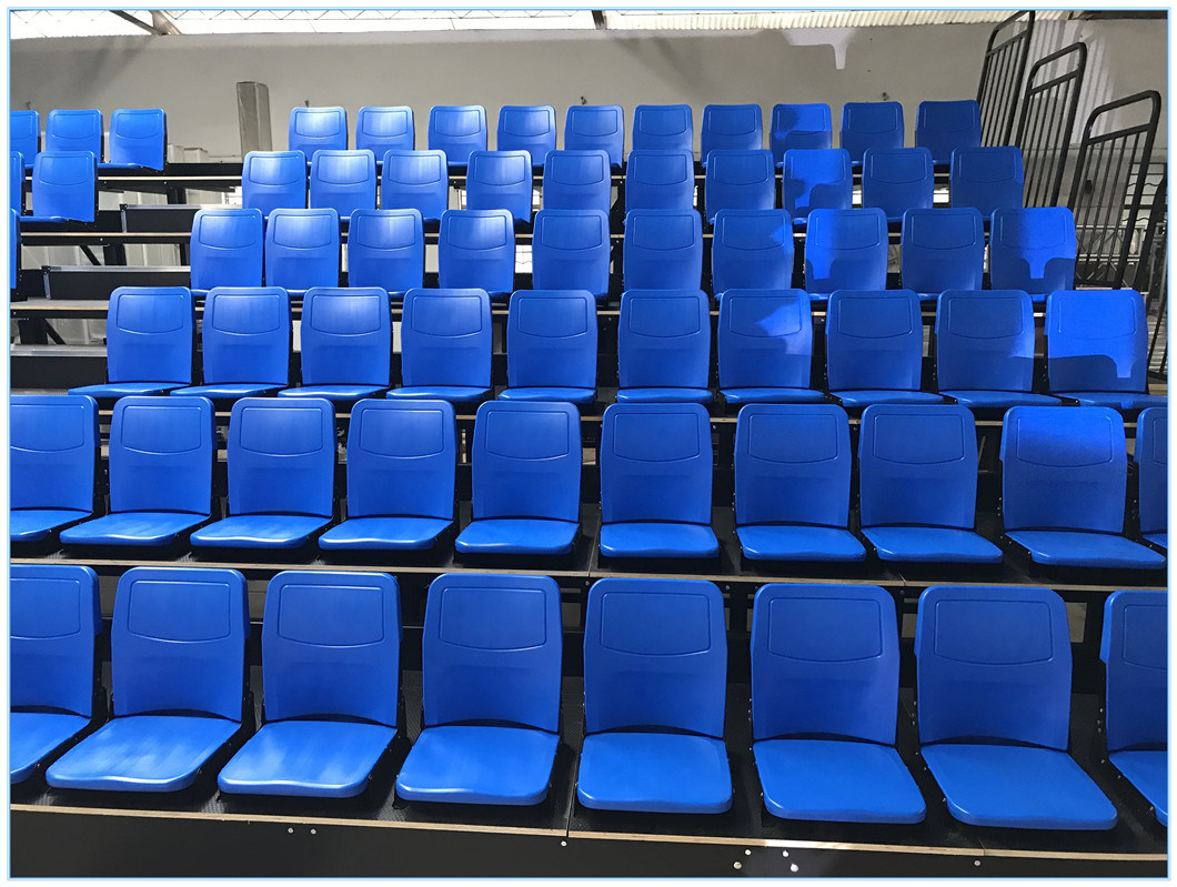 High Quality Metal Structure Plastic VIP Seats Indoor Gym Telescopic Grandstand Bleachers