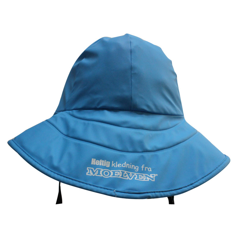 Sky Blue PU Waterproof Raincoat/ Rain Cap/Hat for Adult
