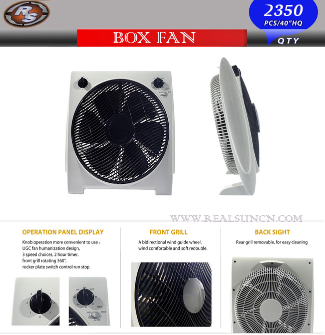 14inch Box Fan with Strong Wind