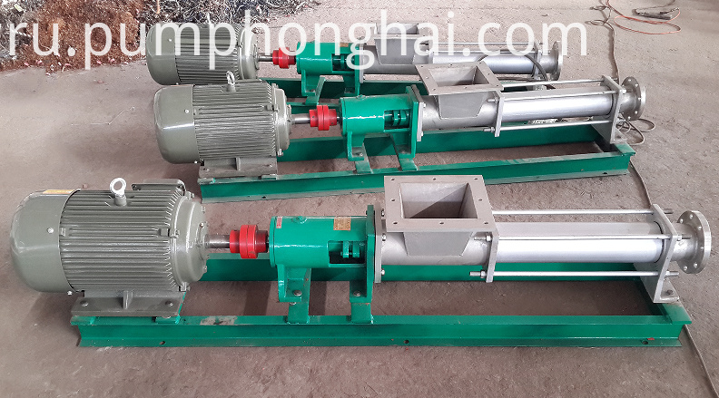 stainless steel material single screw pumps