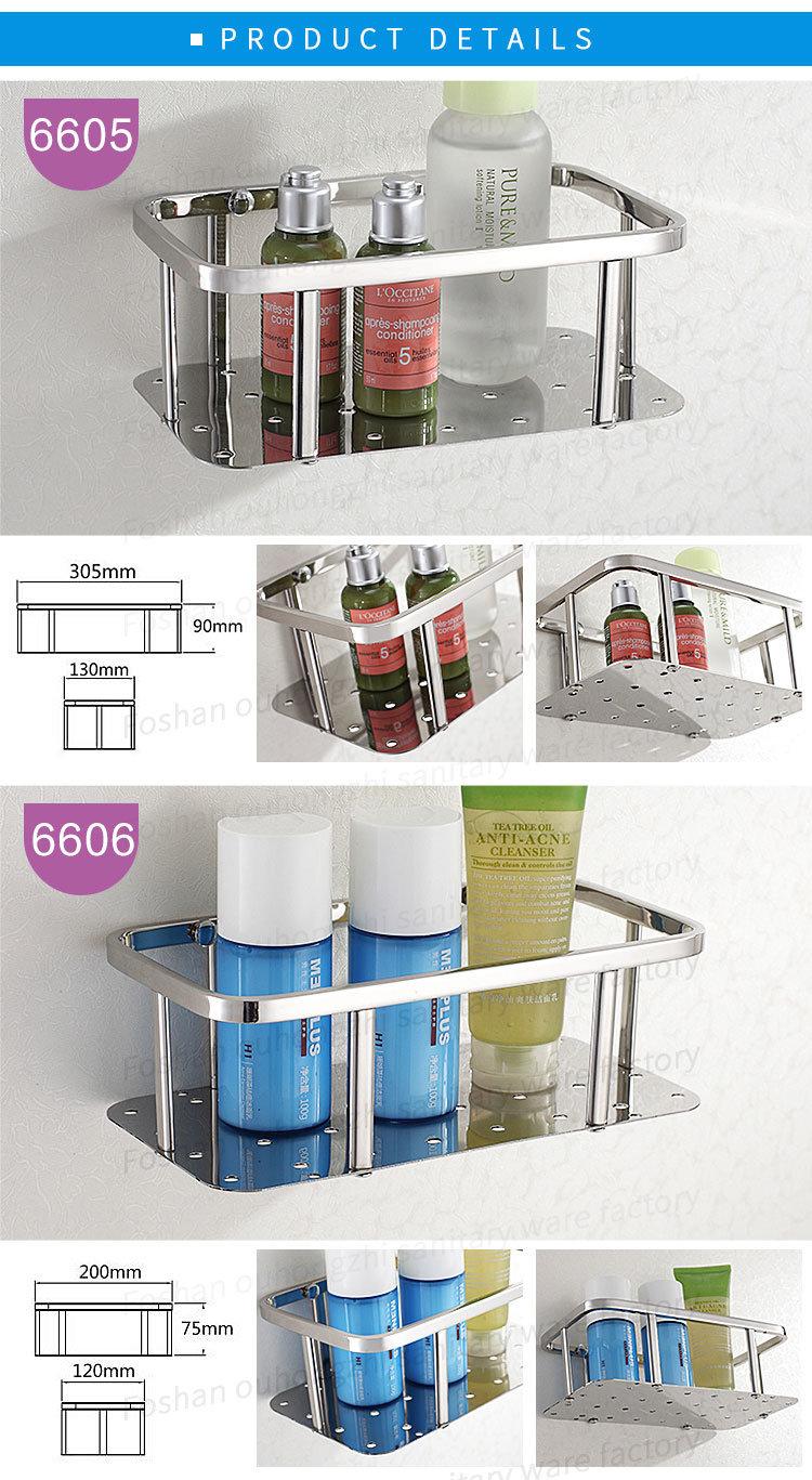 304 Stainless Steel Wall Corner Bathroom or Kitchen Shelf