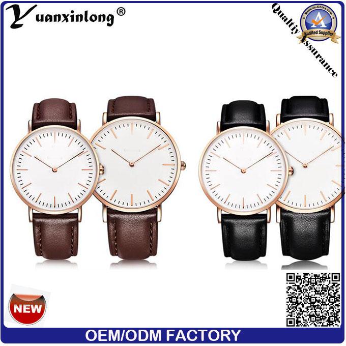 Yxl-004 Womage Brand Fashion Leather Trap Watch Women Fashion Casual Wristwatch Dw Style Luxury Men Sports Quartz Watch