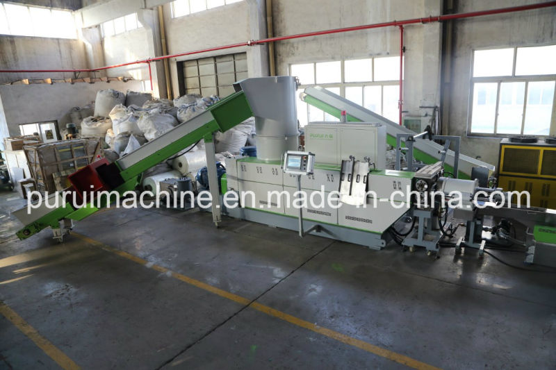 PE PP Raffia Film Recycling Plastic Granulator Machinery