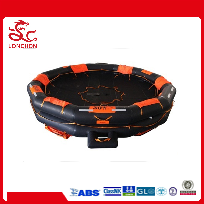 Solas Rubber Open Reversible Inflatable Marine Liferaft with Certificate