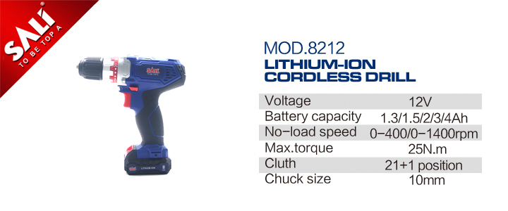 Sali 12V Cordless Drill with Two Li-ion Battery