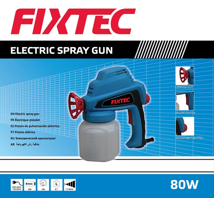 Fixtec Mini 80W Electric Spray Gun of Electric Spray Paint Gun