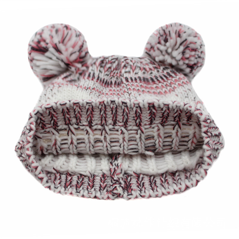 Children Baby Kids Knitted Owl Printing Embroidery Hat Warm Beanie (HW632)