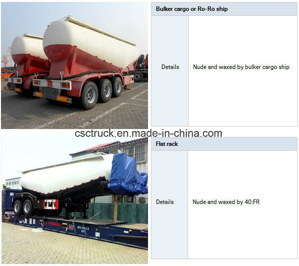 2 Axles China Truck Trailer Manufacturer Supply Bulk Cement Tank Trailer Semi Tanker Trailers