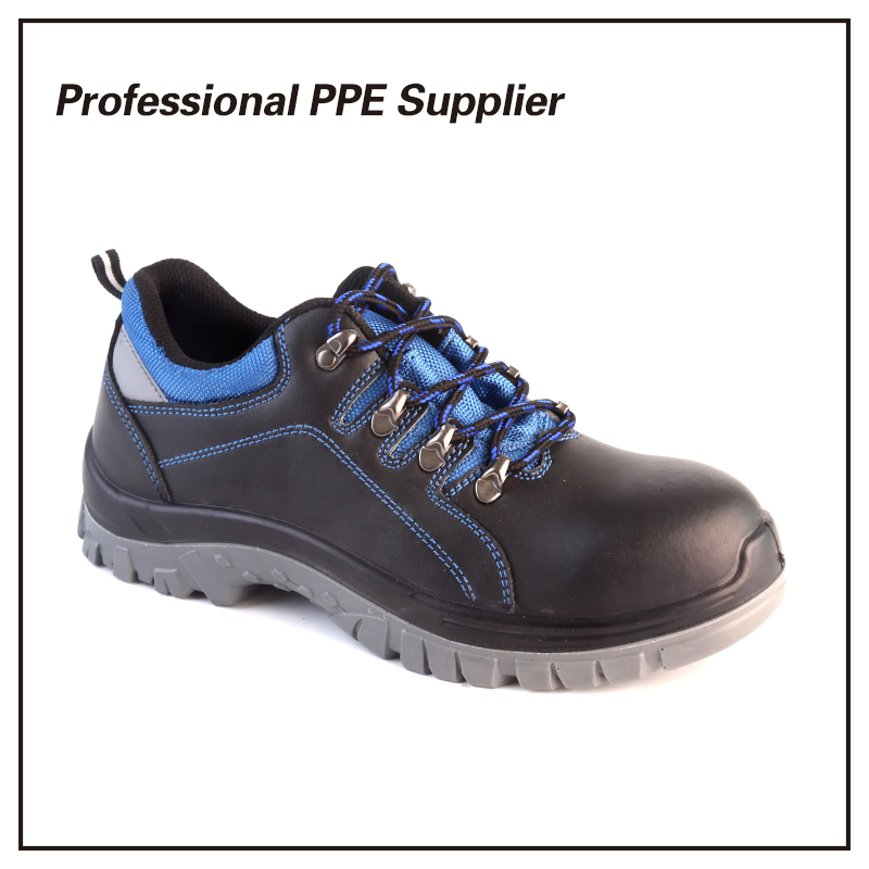 Double Density PU Injection Genuine Leather Safety Shoes