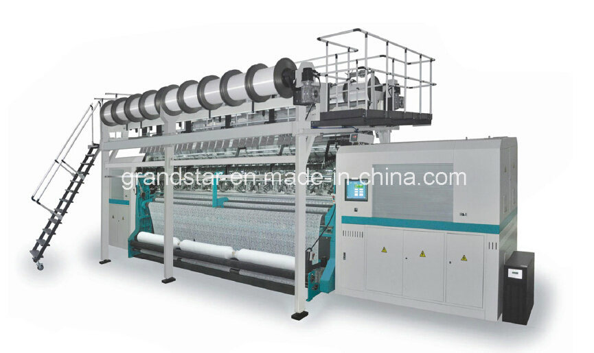 Textronic Lace Jacquard Warp Knitting Machine with Fall Plate