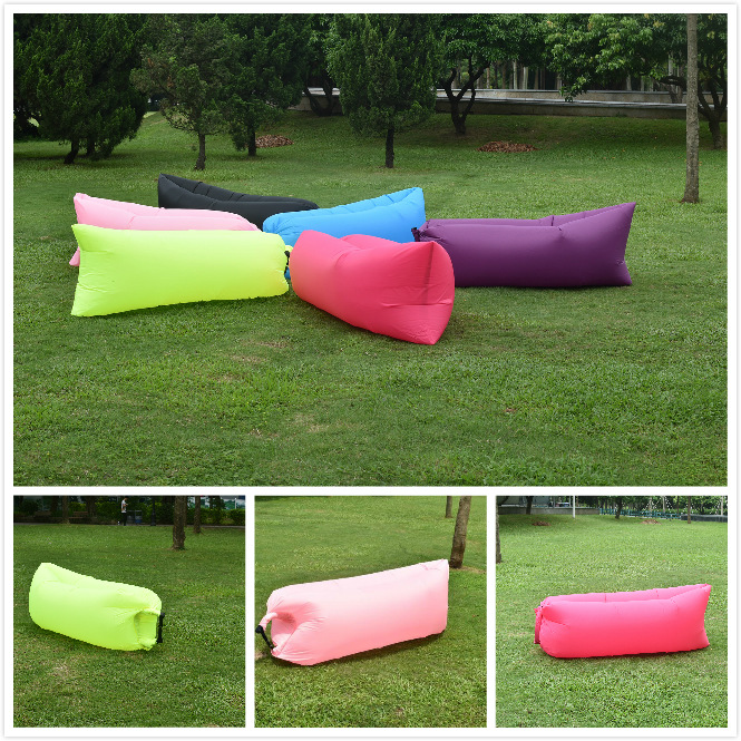 Ripstop Nylon Easy Bring Outdoor Air Filling Lay Bag Inflatable Sleeping Bag