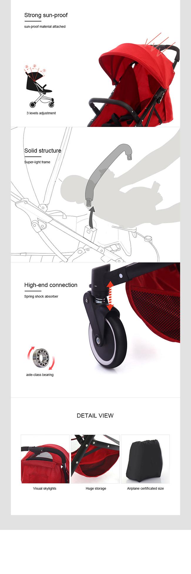 Yiyou Folding Baby Umbrella Stroller in Summer