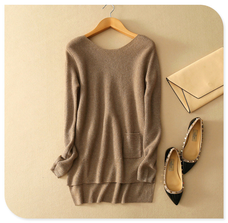 100% Cashmere Knitting Tops Women's Pullover Sweater
