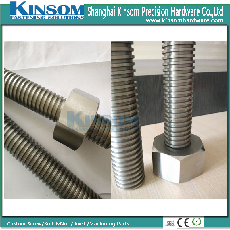 Hexagonal Nut with Custom M3-M27 Assembly with Threaded Rod Bolt