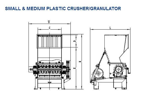 Plastic Granulator/PE Crusher of Recycling Machine with Ce PC3280