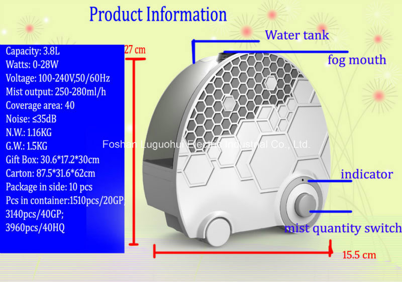 Easy Clean Cool Mist Personal Home Humidifier