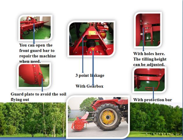Farm Pto Rotary Tiller Italian Garden Tiller Manufacturers