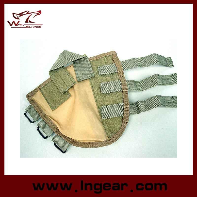 Tactical Airsoft Shotgun Rifle Ammo Pouch, Cheek Pad Gun Bag Woodland Camo