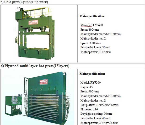 6*9 Feet Film Face Plywood Hydraulic Laminating Hot Press Machine
