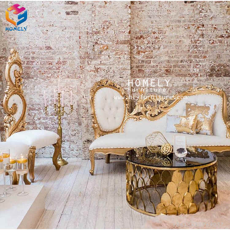 Comfortable Luxurious Wedding Banquet Household Velvet/Leather PU Custom Made King Throne Sofa for Home Party Hotel Love Seat