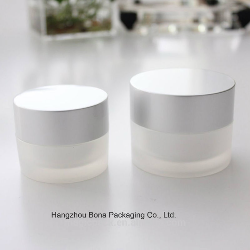 50g Glass Cream Jar with Aluminum Lid