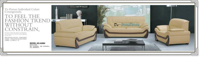Italian Design Genuine Leather Modern Sofa (A006)