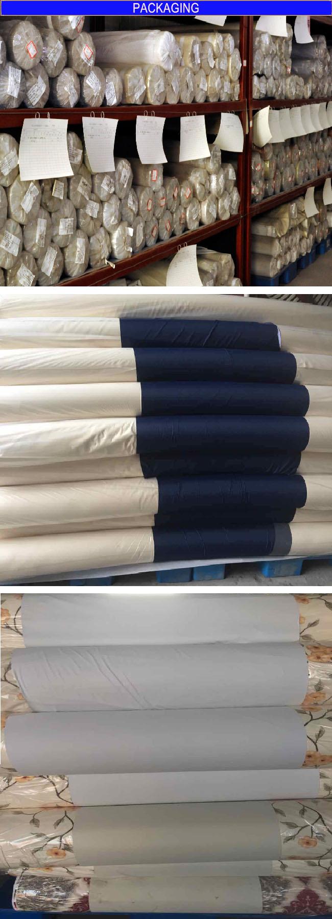 T/C 88*64 Flame Retardant Black -out Curtain Fabric