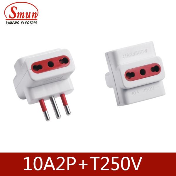 Italy Power Supply Plug 10A 2p+E 250V Extension Socket 3pin Plug