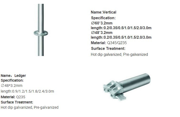 Casting/ Forged Ledger Blade for Cup Lock/ Bowl Lock Scaffolding