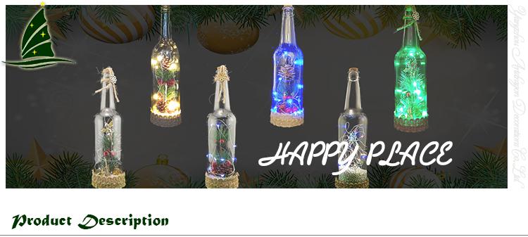 Festivals Glass Bottles with LED String Lights
