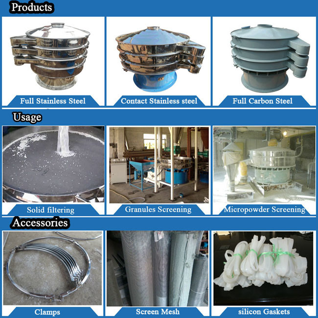 Hot Machinery All Stainless Steel Paper Pulp Vibrating Sieve