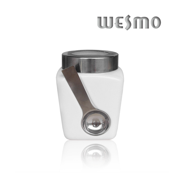 Ceramic Store Container with Spoon (WKC0333G-M)