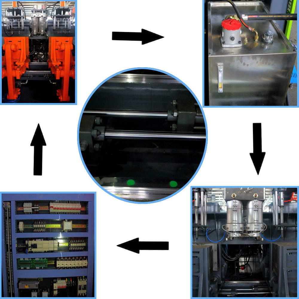 Plastic Motor Oil Bottle Making Machine with Double Station