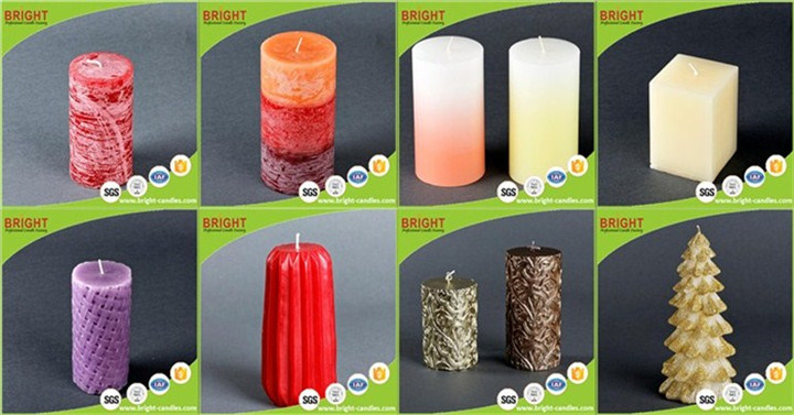 Purple Pillar Candles by Surely Bright Co. Ltd