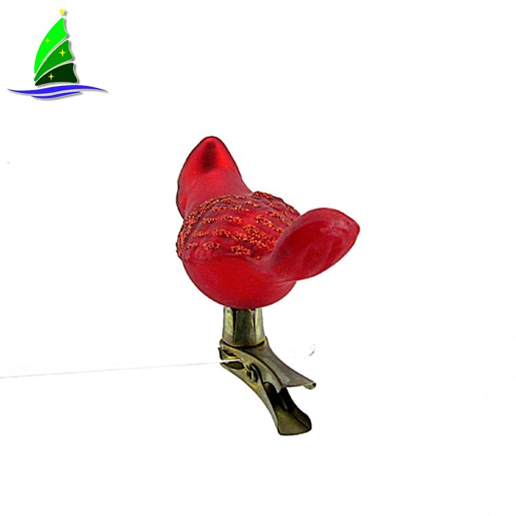 Redbird Glass Blown Ornament
