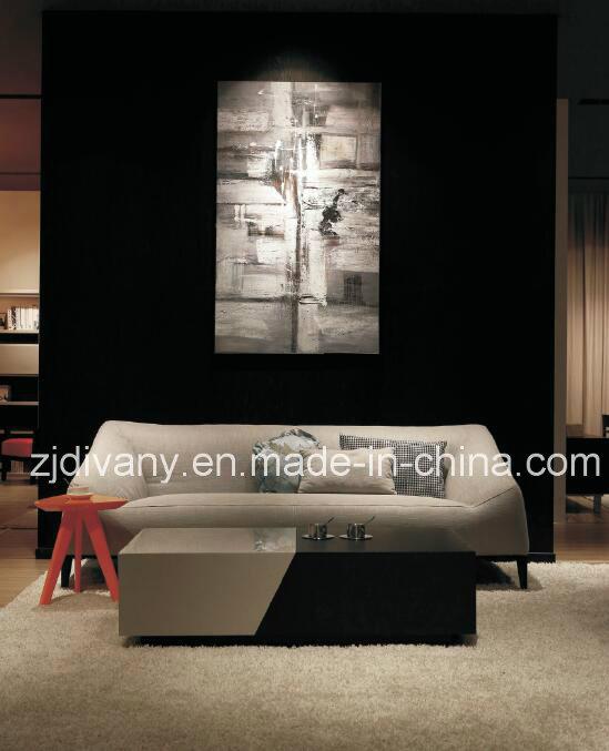European Style Home Sofa Living Room Leather Sofa Set (D-76A & B & C)