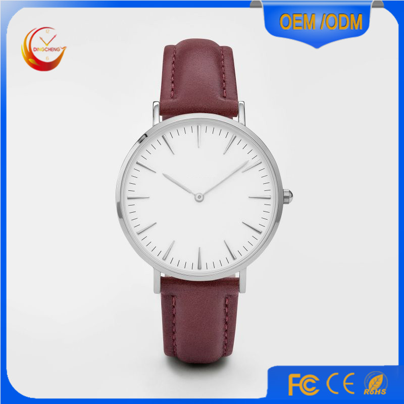 Promotion Sport Stainless Steel Fashion Lady Men's Quartz Wrist Watch