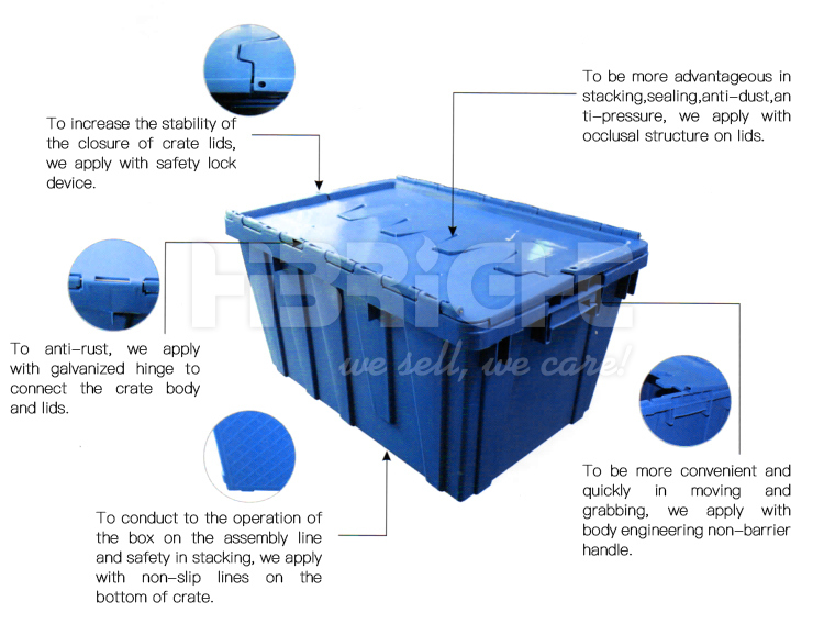 Fold up Collapsible Plastic Crate Used for Storage
